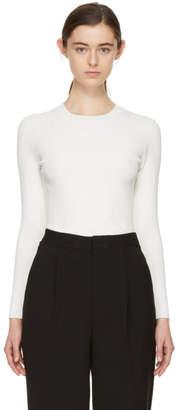 Enfold White Random Rib Pullover