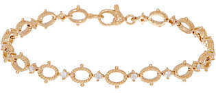 Judith Ripka 14K Gold Oval Link 1/2 cttwDiamond 7-1/4""
