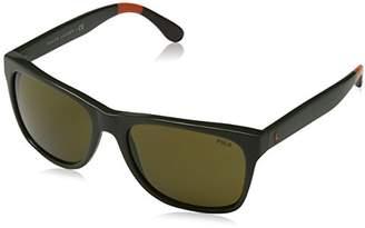 Polo Ralph Lauren Men's 0PH4106 Rectangular Sunglasses