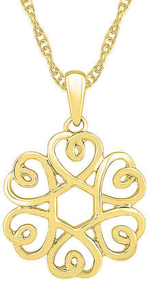 FINE JEWELRY Womens 10K Gold Knot Pendant Necklace
