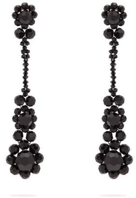 Simone Rocha - Beaded Tassel Drop Earrings - Womens - Black