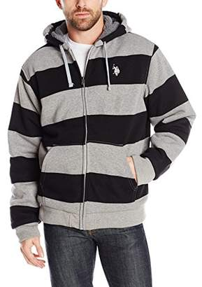 U.S. Polo Assn. Men's Rugby-Stripe Fleece Hoodie