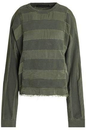 Paneled Twill And Cotton-Jersey Sweatshirt