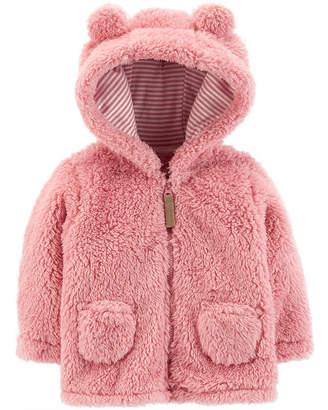 Carter's Zip-Up Sherpa Jacket - Baby Girl