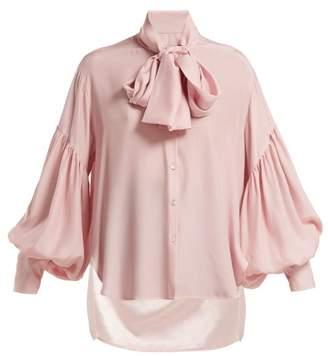 Hillier Bartley - New Romantic Polka Dot Silk Blouse - Womens - Cream Multi