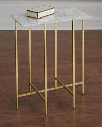 Interlude Home Blinn Agate Side Table, Ivory