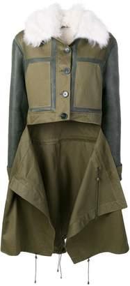 Monse patchwork shearling coat