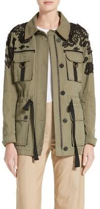 Women's Veronica Beard Lace Trim Heritage Utility Jacket $695 thestylecure.com