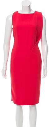 Antonio Berardi Sleeveless Midi Dress Red Sleeveless Midi Dress