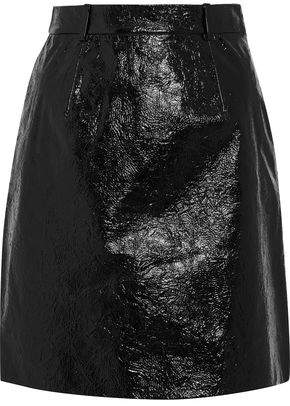 Carven Crinkled Patent-Leather Mini Skirt