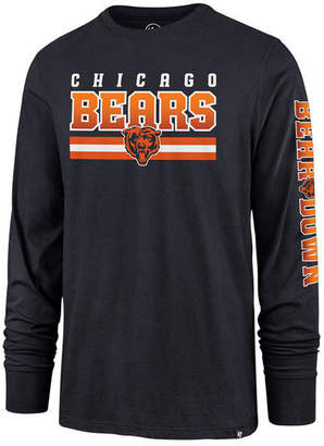'47 Men Chicago Bears Level Up Long Sleeve Super Rival T-Shirt