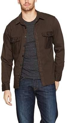 Billy Reid Men's Garment Dyed Selvedge Shirt Jacket