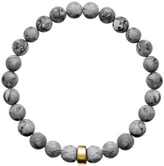 A+ro Ora Pearls ARO Men's Map Jasper Bracelet Gold Bead - Large