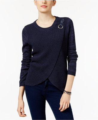 Inc International Concepts Mixed-Knit Layered Sweater, Only at Macy's $79.50 thestylecure.com