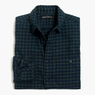 Buffalo David Bitton Mercantile Tall slim-fit heather flannel shirt in small check