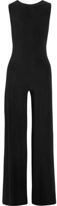 Norma Kamali - Elephant Open-back Stretch-jersey Jumpsuit - Black $180 thestylecure.com