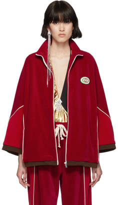 Gucci Red Chenille Track Jacket