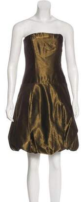 Ralph Lauren Black Label Metallic Strapless Dress