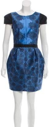 Tibi Floral Print A-Line Dress