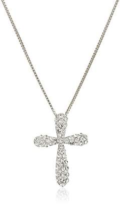 Swarovski Sterling Silver with Elements Cross Necklace