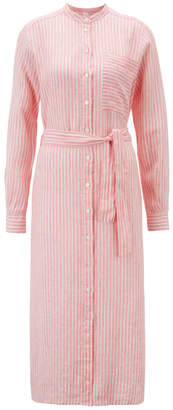 HUGO BOSS PINK SHIRT DRESS - 16 - Pink