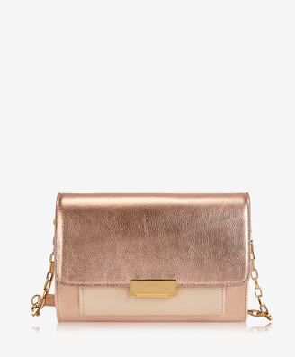 GiGi New York Kate Crossbody, Rose Gold Metallic Goatskin