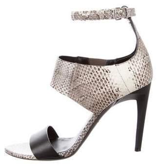 Proenza Schouler Maremma Snakeskin Sandals