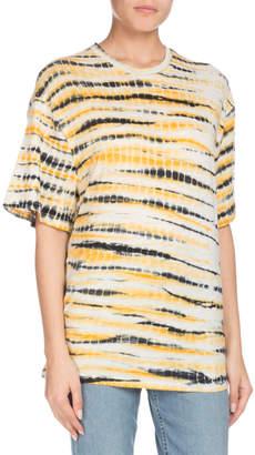 Proenza Schouler Crewneck Short-Sleeve Multi Tie-Dye Tissue Jersey