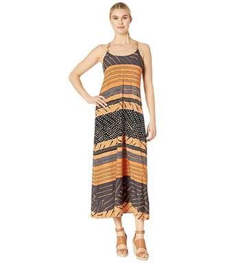 Donna Morgan Spaghetti Strap Striped Maxi Dress