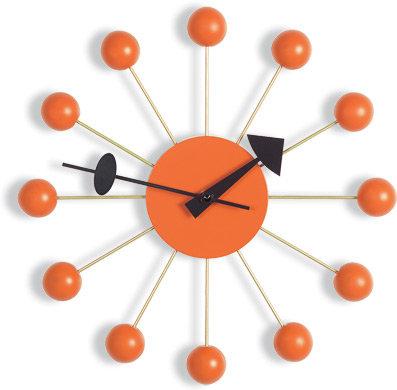 Vitra nelson ball clock - orange