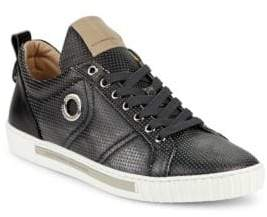 Alessandro Dell'Acqua Perforated Leather Lace-Up Sneakers