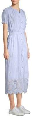 Joie Charae Embroidered Eyelet A-Line Dress