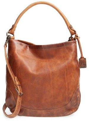 Frye Melissa Leather Hobo - Brown $388 thestylecure.com