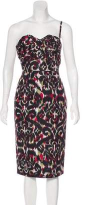 Christian Dior Silk Ikat Print Dress