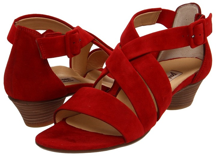 Paul Green Lupe (Red Suede) - Footwear