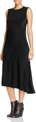 DKNY Asymmetric Pleated Dress - 100% Exclusive $298 thestylecure.com