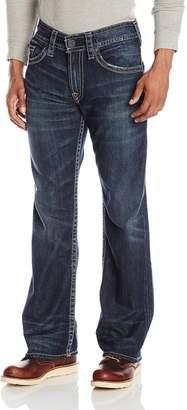 Silver Jeans Men's Zac Straight Leg Dark Wash Jean