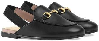 Gucci Kids Toddler Princetown leather slipper