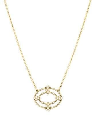 Judith Ripka Diamond Scroll Pendant Necklace