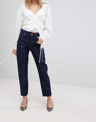 Asos DESIGN FLORENCE Authentic Straight Leg Jeans In Clean Indigo