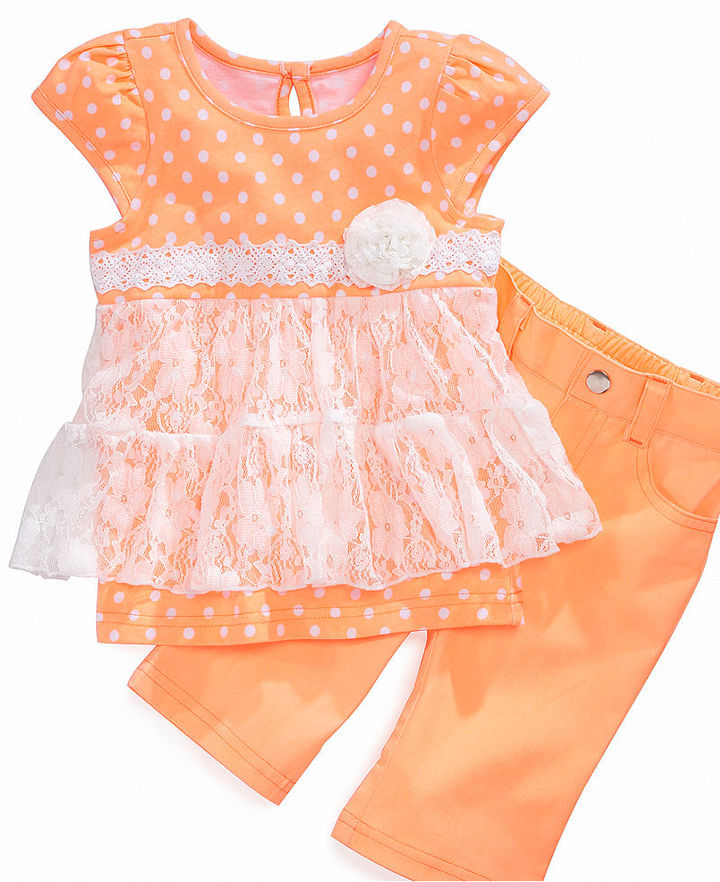 Nannette Baby Set, Baby Girls Top and Capris