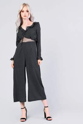 Next Womens Glamorous Motif Print Long Sleeve Jumpsuit