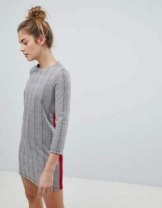 Pull&Bear Checked Jersey Dress