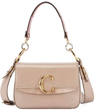 Chloé C Small Shiny Calf Leather Shoulder Bag