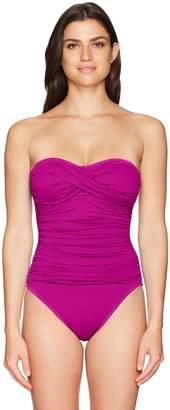 LaBlanca La Blanca Women's Island Goddess Convertible Bandini Tankini Swimsuit Top