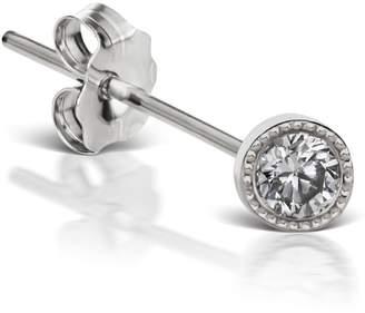 Maria Tash 3mm Scallop Edge Diamond Single Stud Earring - White Gold