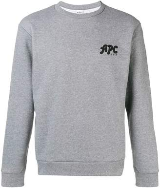 A.P.C. logo crewneck sweatshirt