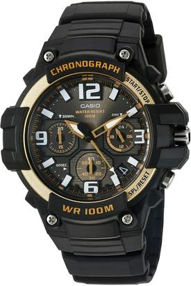 Casio Men's 'Heavy Duty Chronograph' Quartz Stainless Steel and Resin Casual Watch, Color:Black (Model: MCW-100H-9A2VCF)
