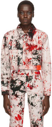 S.R. Studio. La. Ca. S.R. STUDIO. LA. CA. Pink SOTO Cropped Denim Jacket