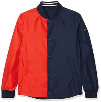 Tommy Hilfiger Boy's S Reversible Cracker Jacket,(Manufacturer Size: 12)